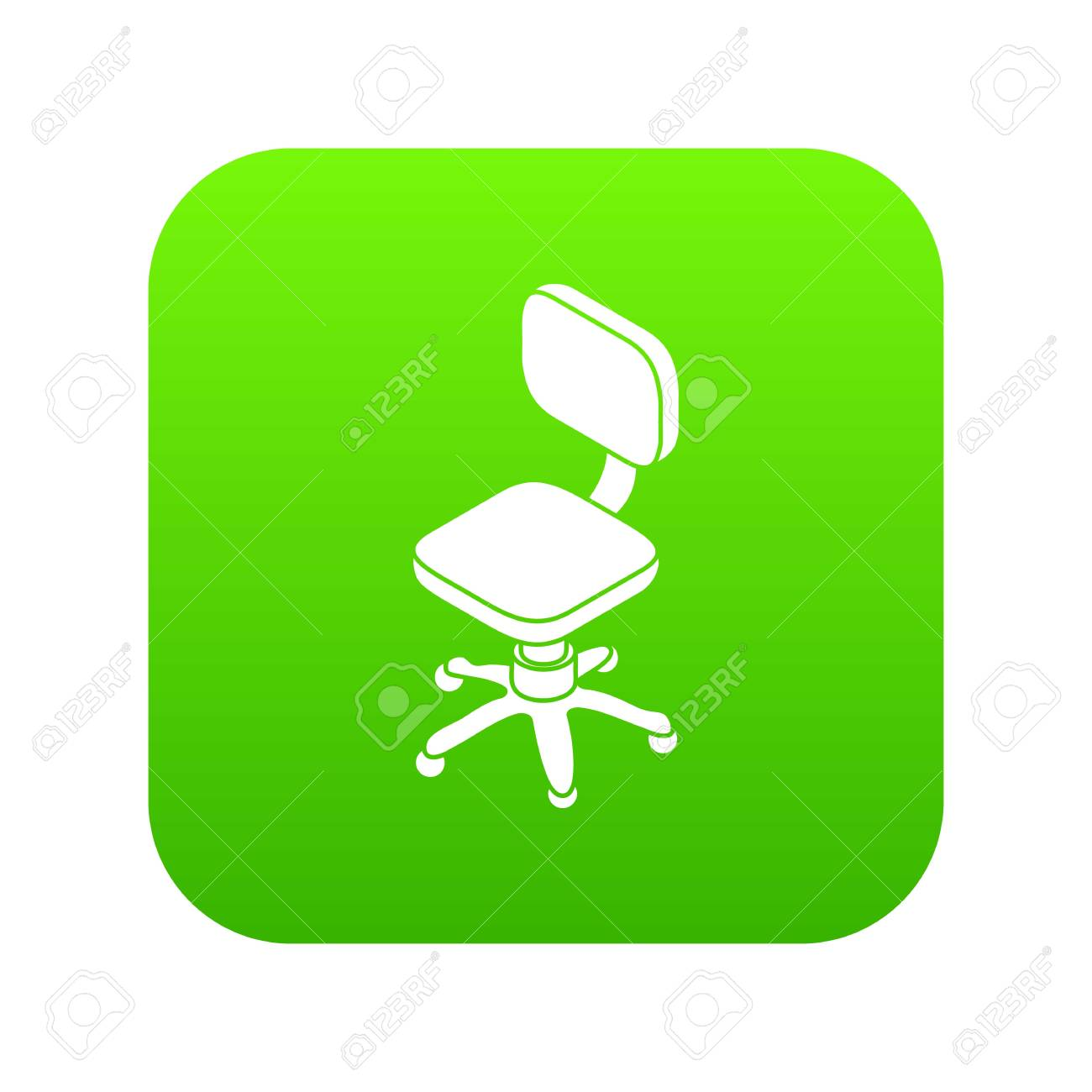 3bbf4fde9 Small wheel chair icon green vector Stock Vector - 101703699