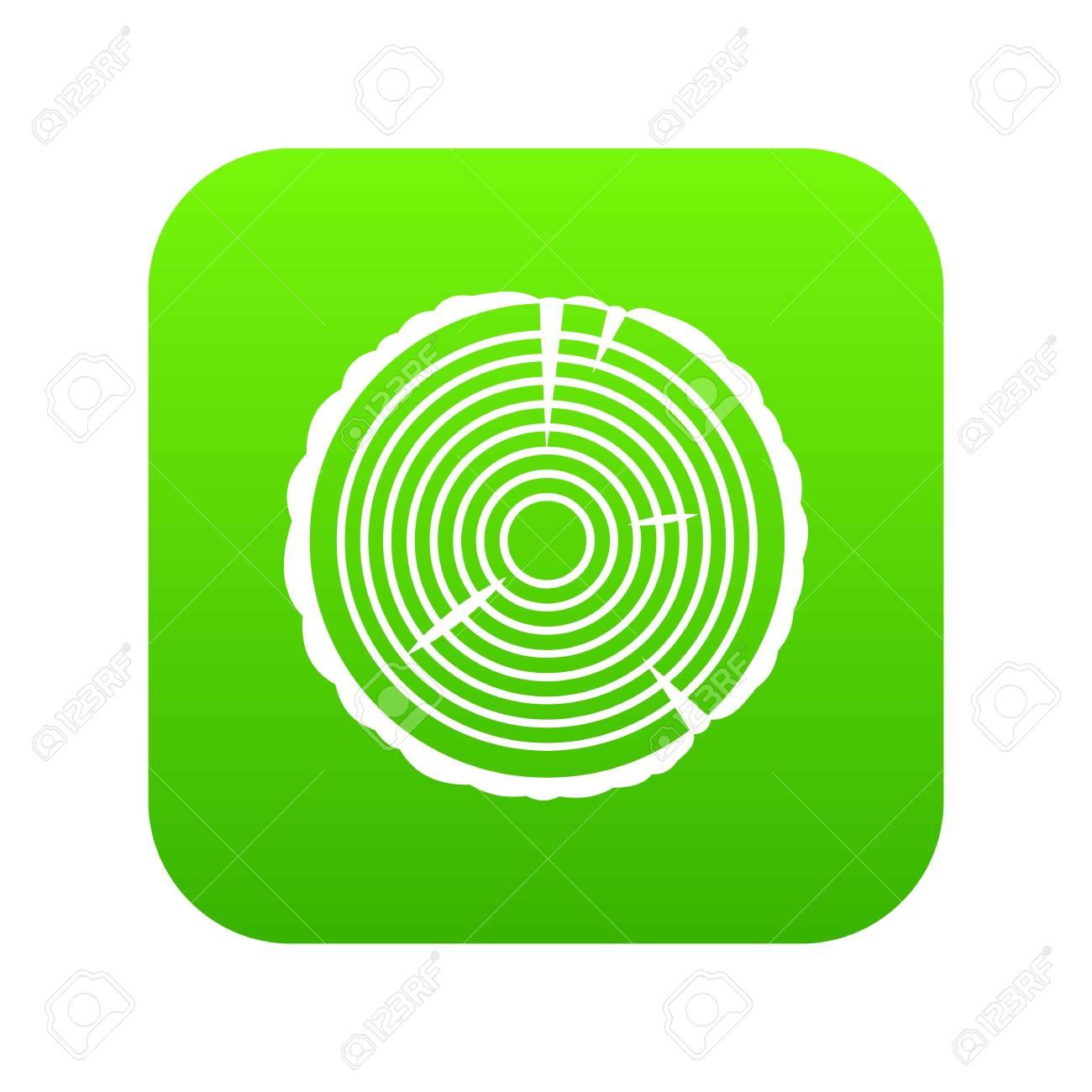 Tree Ring Icon Digital Green Royalty Free Cliparts Vectors And