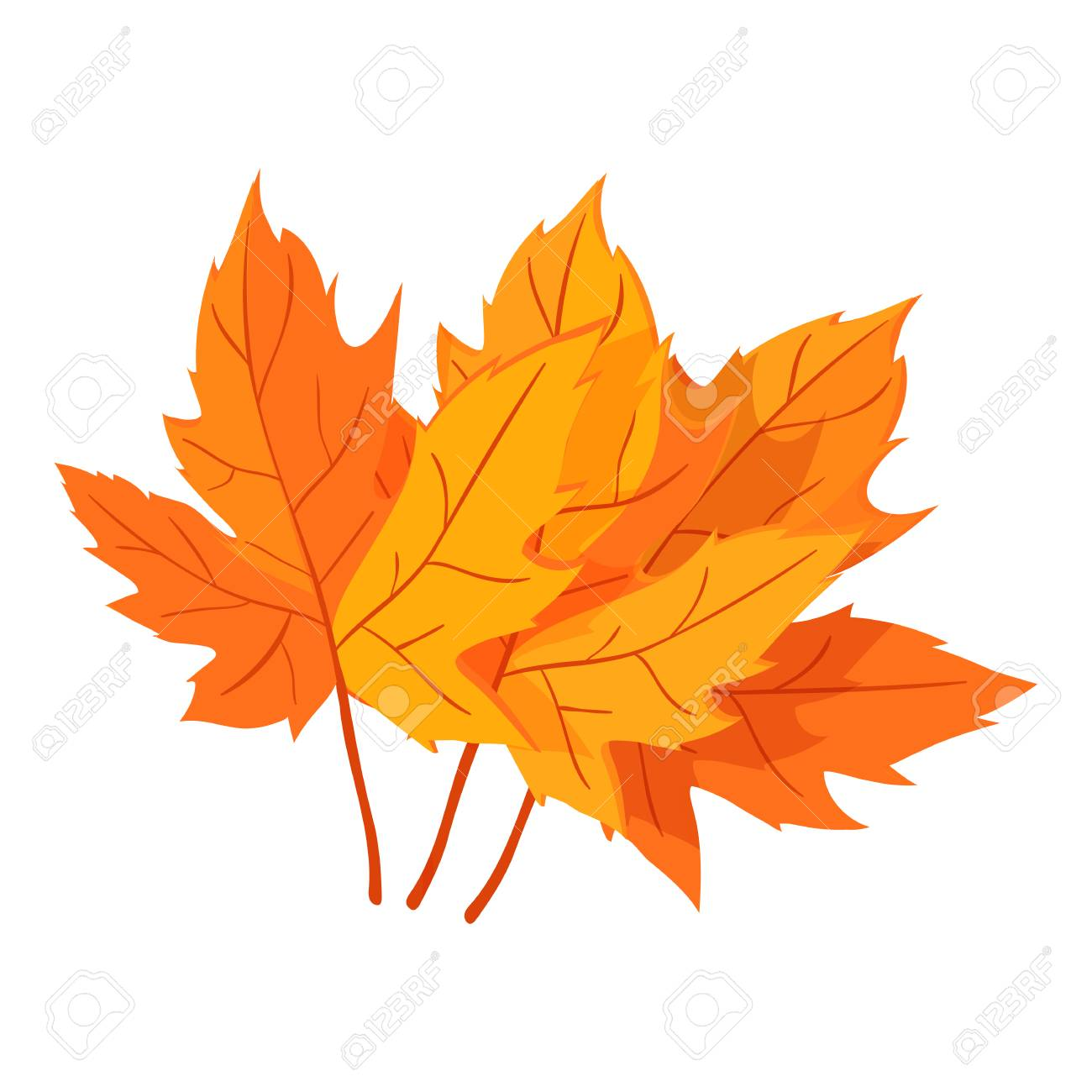 Autumn Leaves Icon Cartoon Style Stock Photo Picture And Royalty Free Image Image 106501331