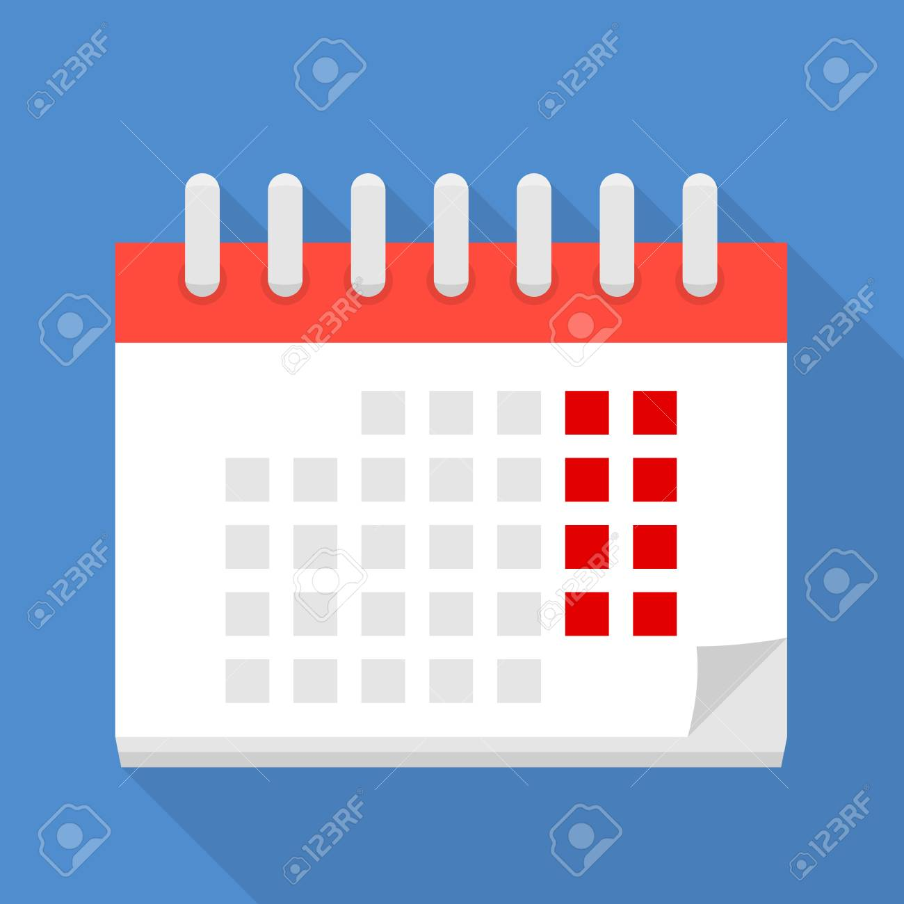 Big Calendar Icon Flat Style Stock Photo Picture And Royalty Free