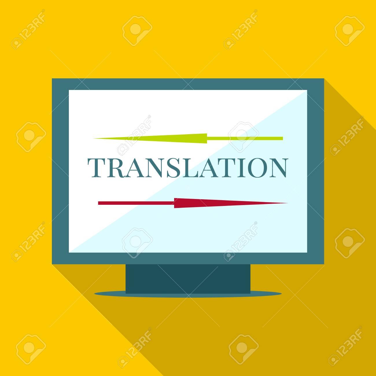 computer translation icon flat illustration of computer translation