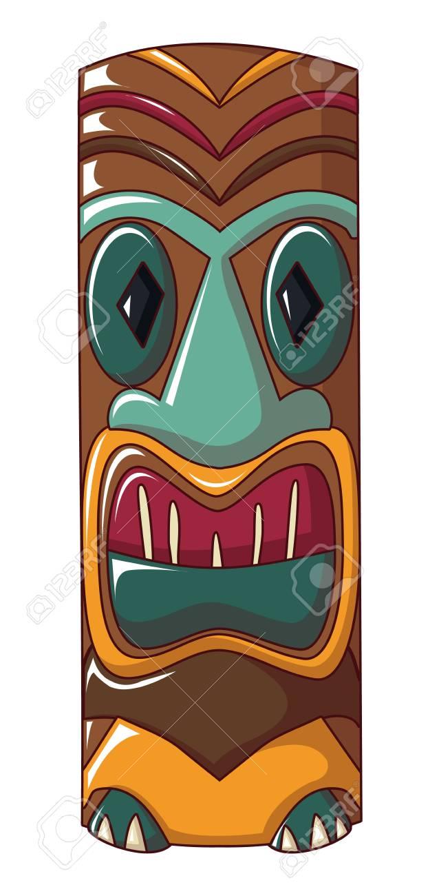 Polynesian idol icon. Cartoon of polynesian idol vector icon for web design isolated on white background - 110125000