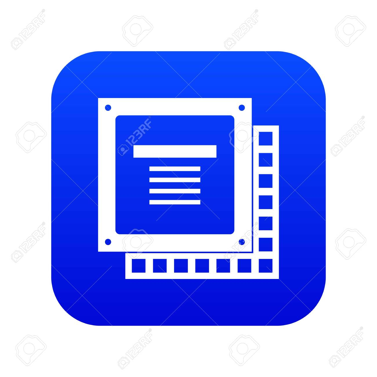 computer cpu processor chip icon digital blue for any design royalty free cliparts vectors and stock illustration image 126853310 123rf com
