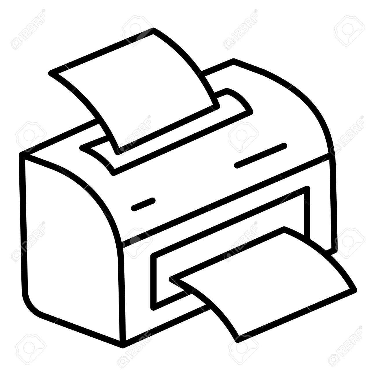 printer icon outline printer vector icon for web design isolated royalty free cliparts vectors and stock illustration image 126306705 printer icon outline printer vector icon for web design isolated