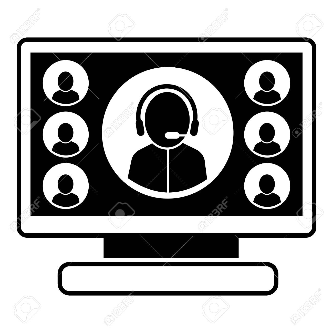 Online webinar icon. Simple illustration of online webinar vector icon for web design isolated on white background - 124405032