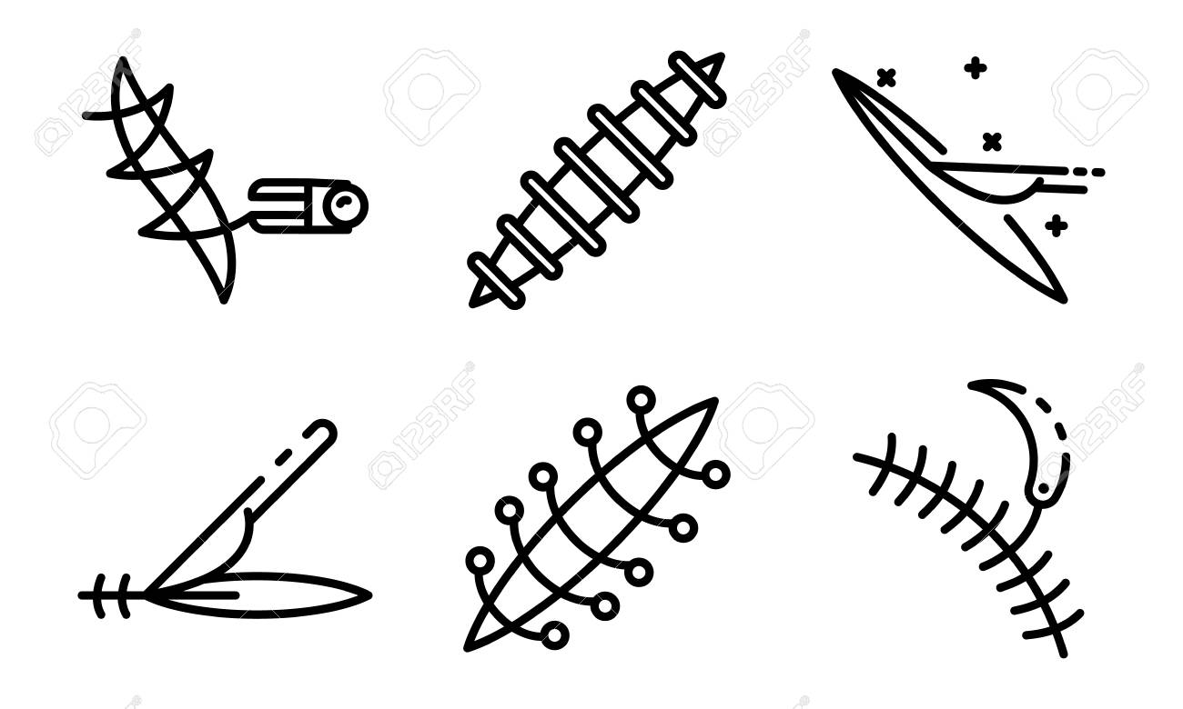 Cross suture icon, outline style Clipart | k71603563 | Fotosearch
