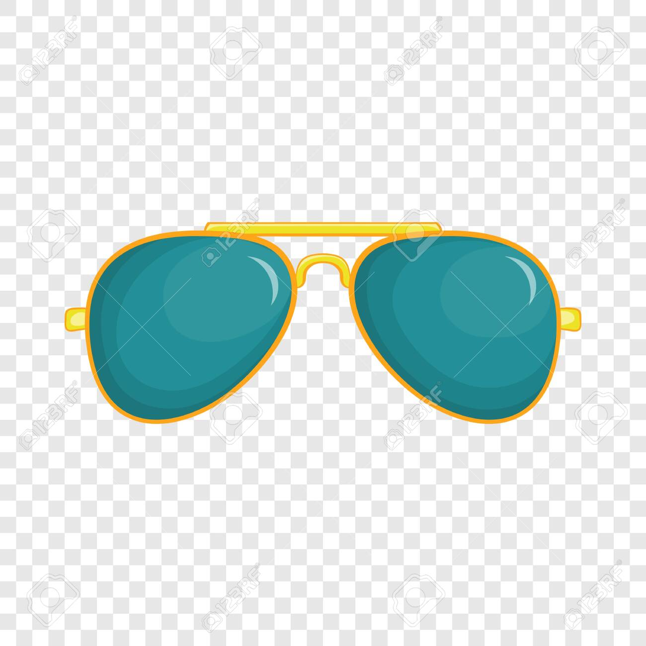 Glasses icon in cartoon style isolated on background for any web design - 124367021