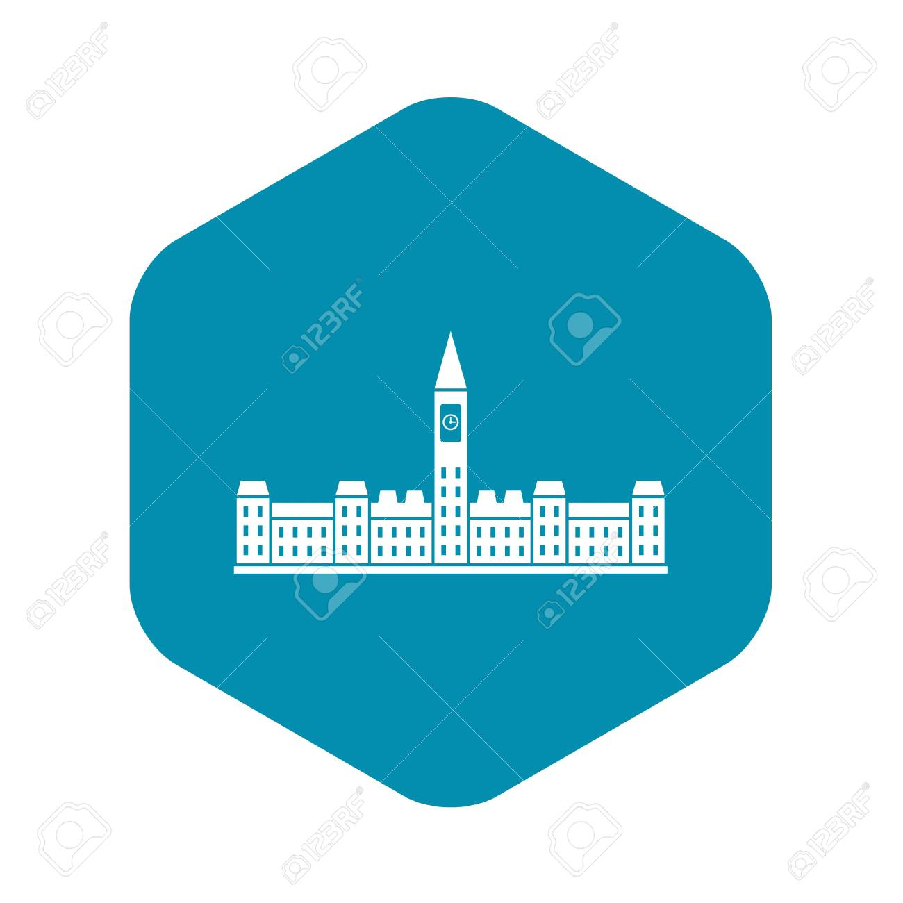 Parliament Building of Canada icon, simple style - 122867594