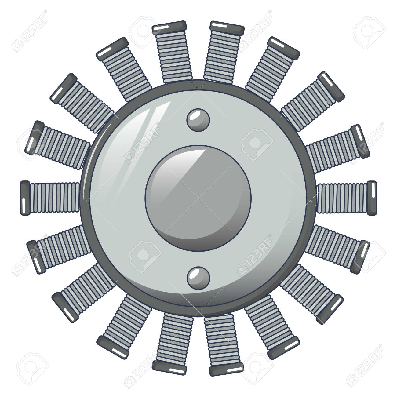Multiple coil icon. Cartoon of multiple coil vector icon for web design isolated on white background - 130237683