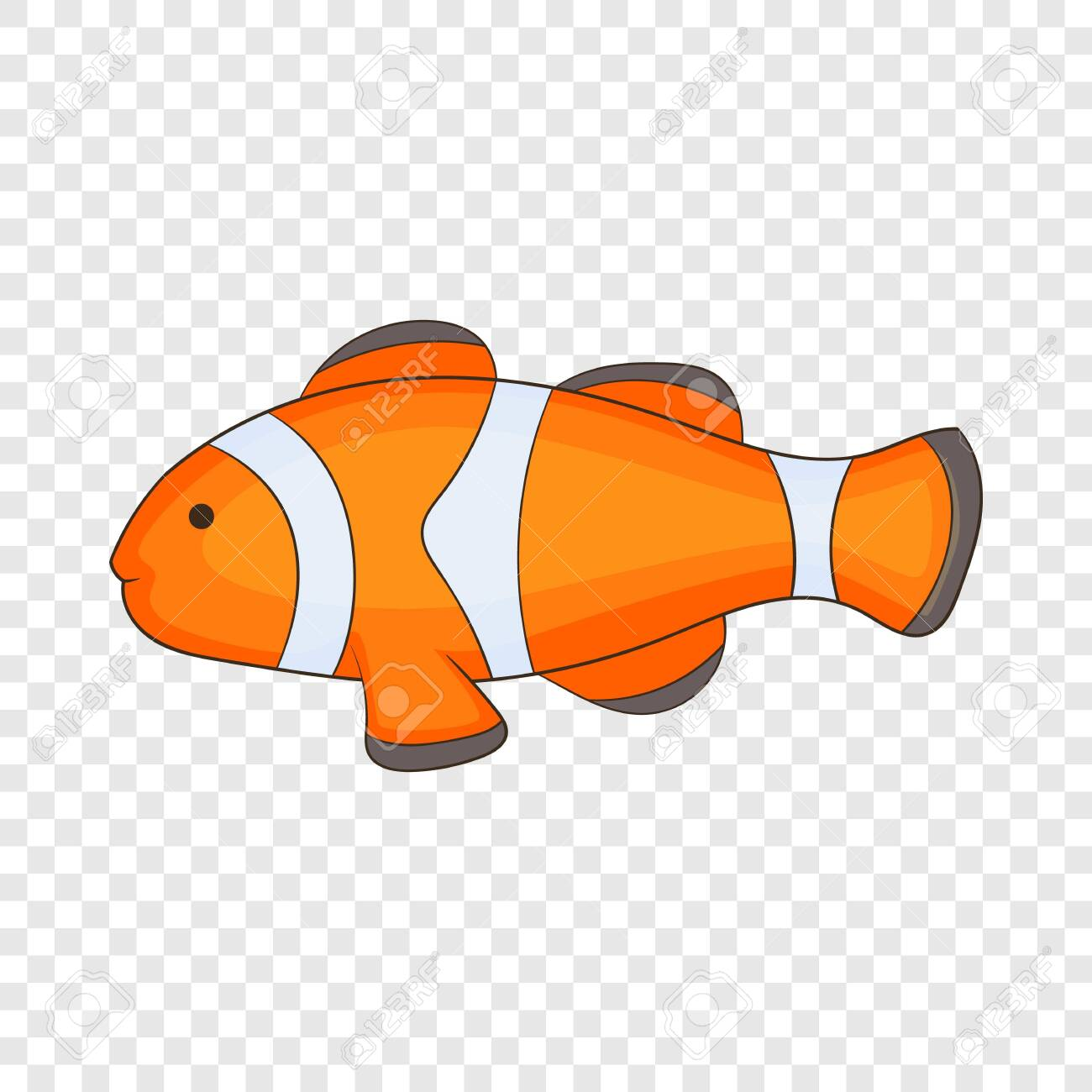 Download Clown Fish Icon Cartoon Illustration Of Clown Fish Vector Icon Royalty Free Cliparts Vectors And Stock Illustration Image 130248413