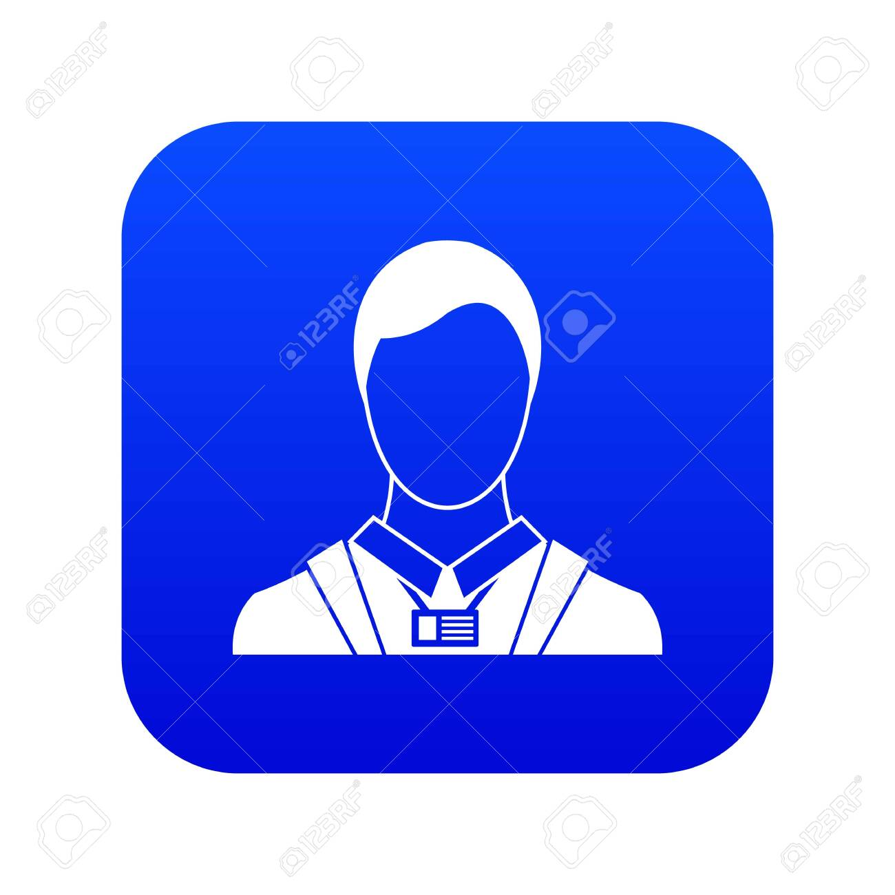 businessman with identity name card icon digital blue stock photo picture and royalty free image image 127754282 123rf com