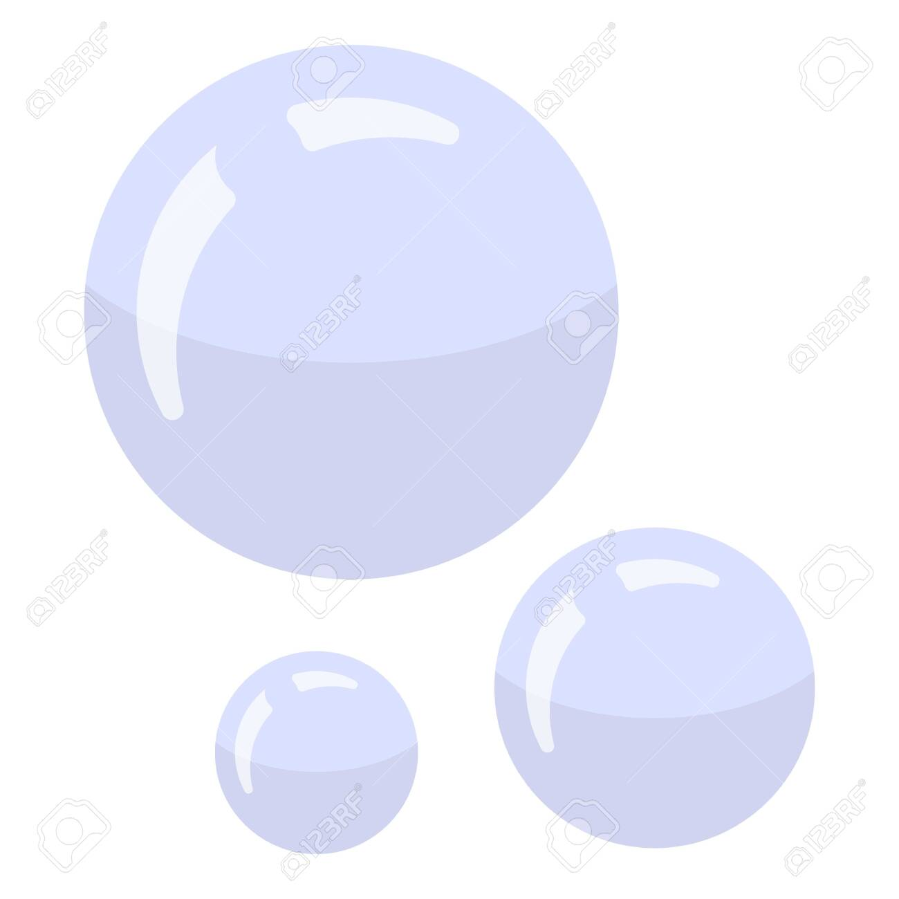 Shaving bubbles icon. Isometric of shaving bubbles vector icon for web design isolated on white background - 132414454