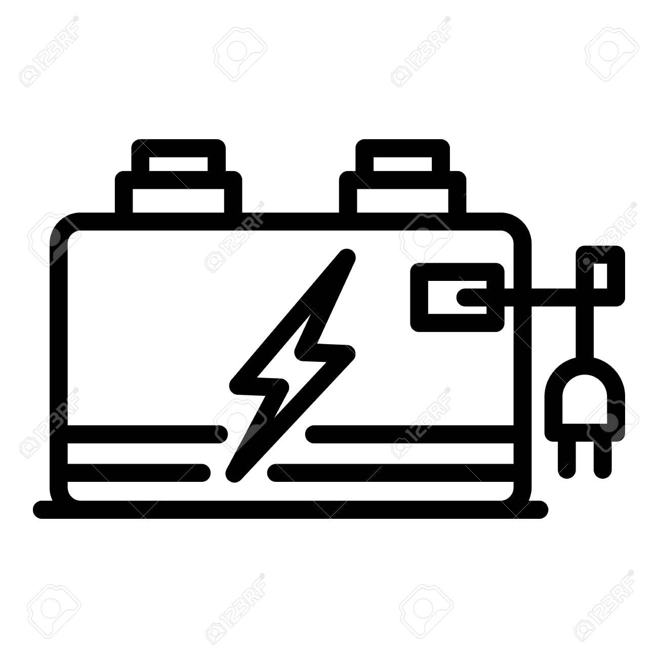 Storage Battery Icon Outline Storage Battery Vector Icon For Royalty Free Cliparts Vectors And Stock Illustration Image 148879797