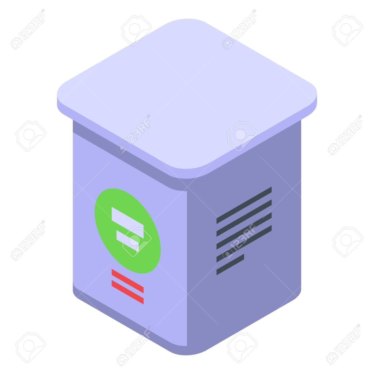 Farm sugar box icon, isometric style - 154412157