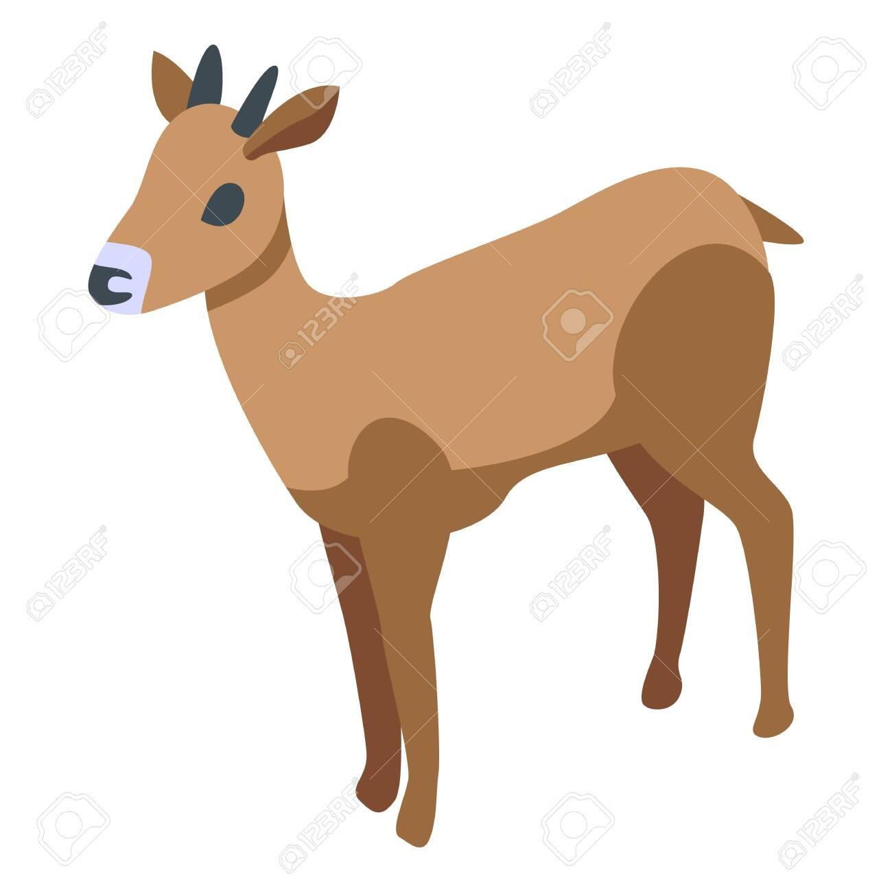 Oryx gazelle icon, isometric style - 156906764