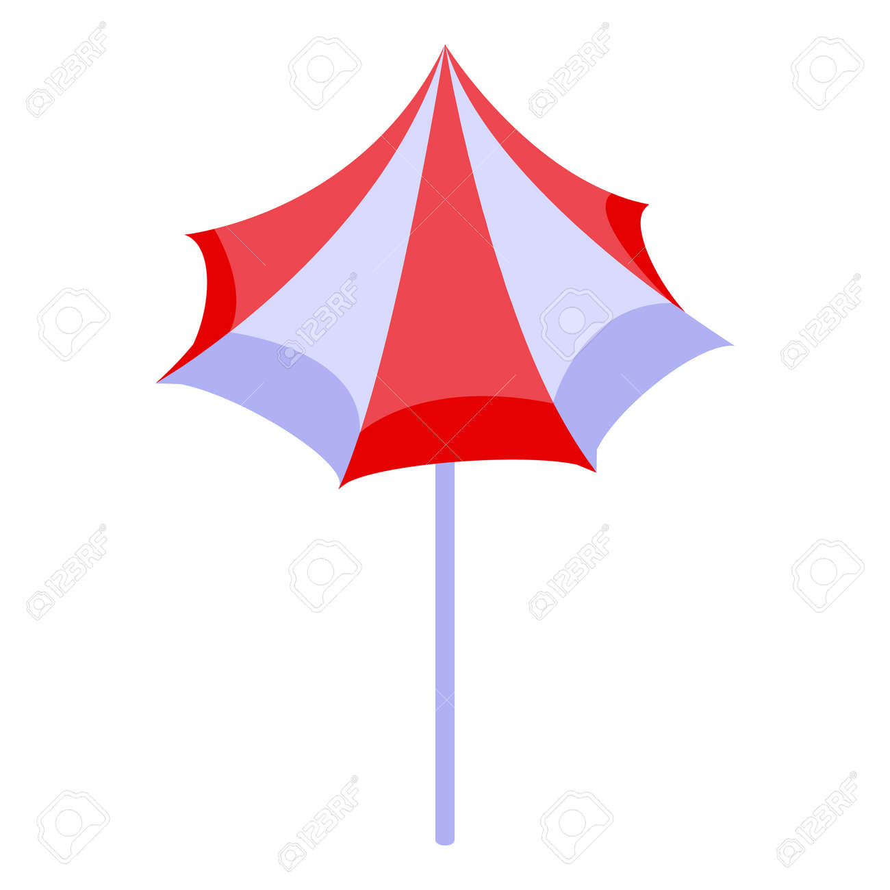 Beach umbrella icon, isometric style - 156894738