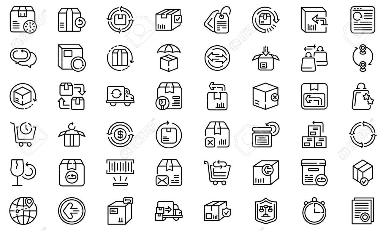 Return of goods icon, outline style - 166097099