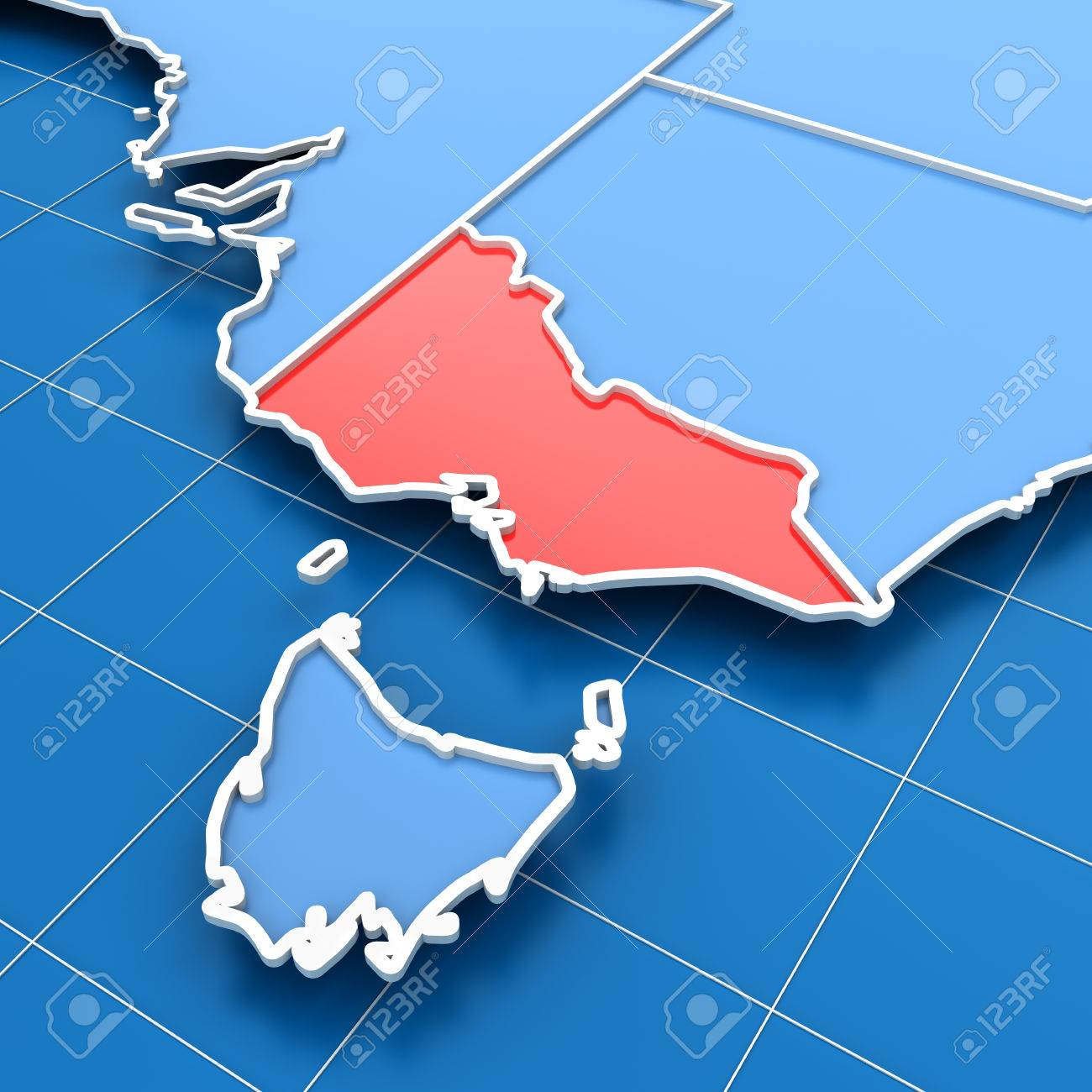 3d Render Of Australia Map With Victoria State Highlighted – Victoria Australia Map
