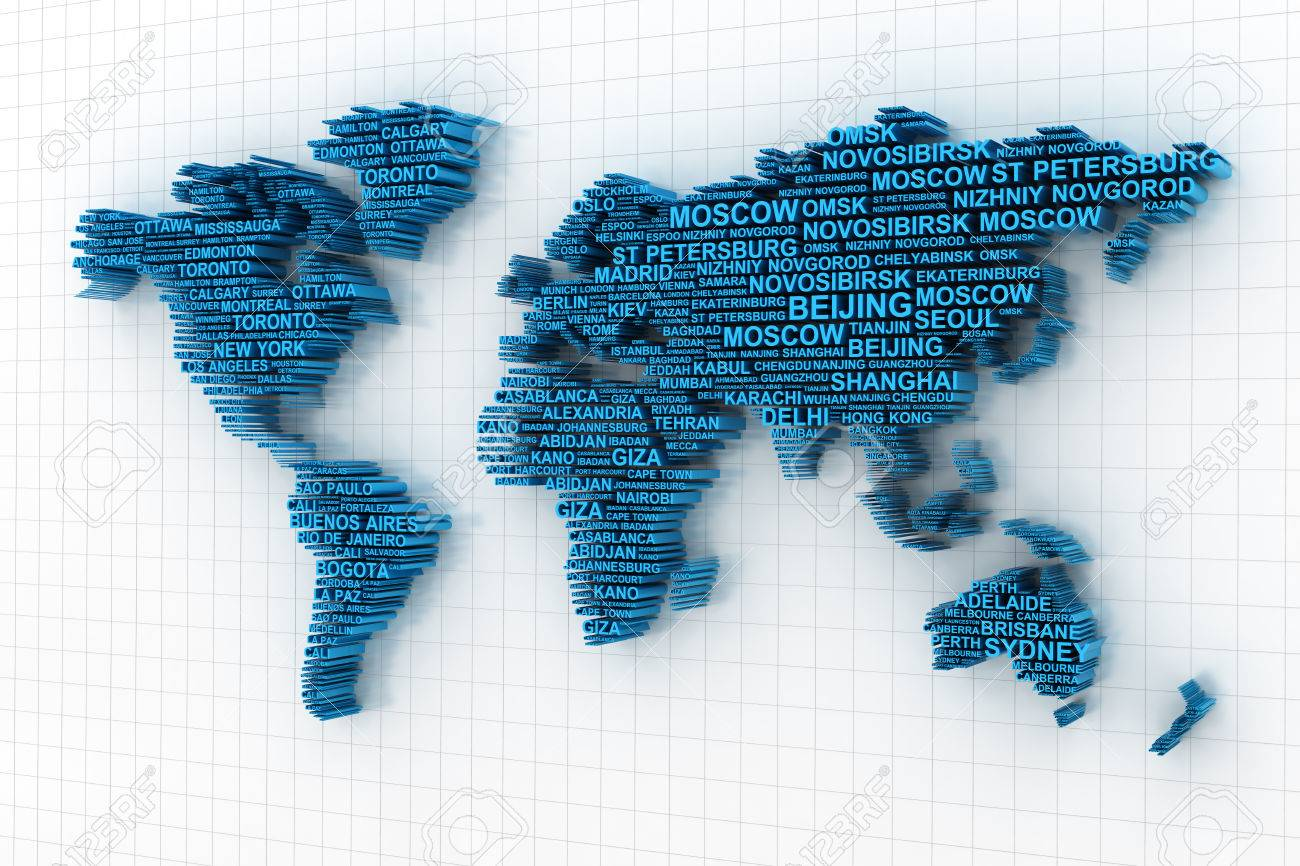 3d render of world map formed by names of major cities stock photo 3d render of world map formed by names of major cities stock photo 40320619 gumiabroncs Gallery