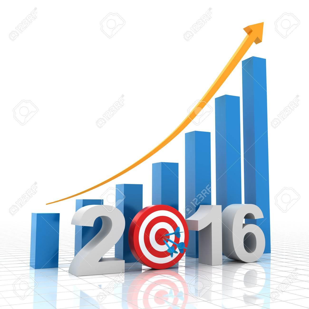 2016 growth target, 3d render, white - 43541739