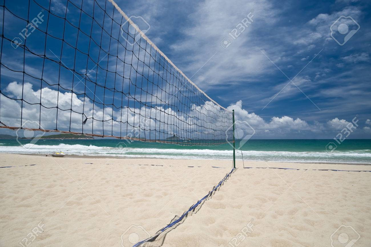 Beach Volleyball Court And Net Against Blue Sky Stock Photo Picture And Royalty Free Image Image 44129124