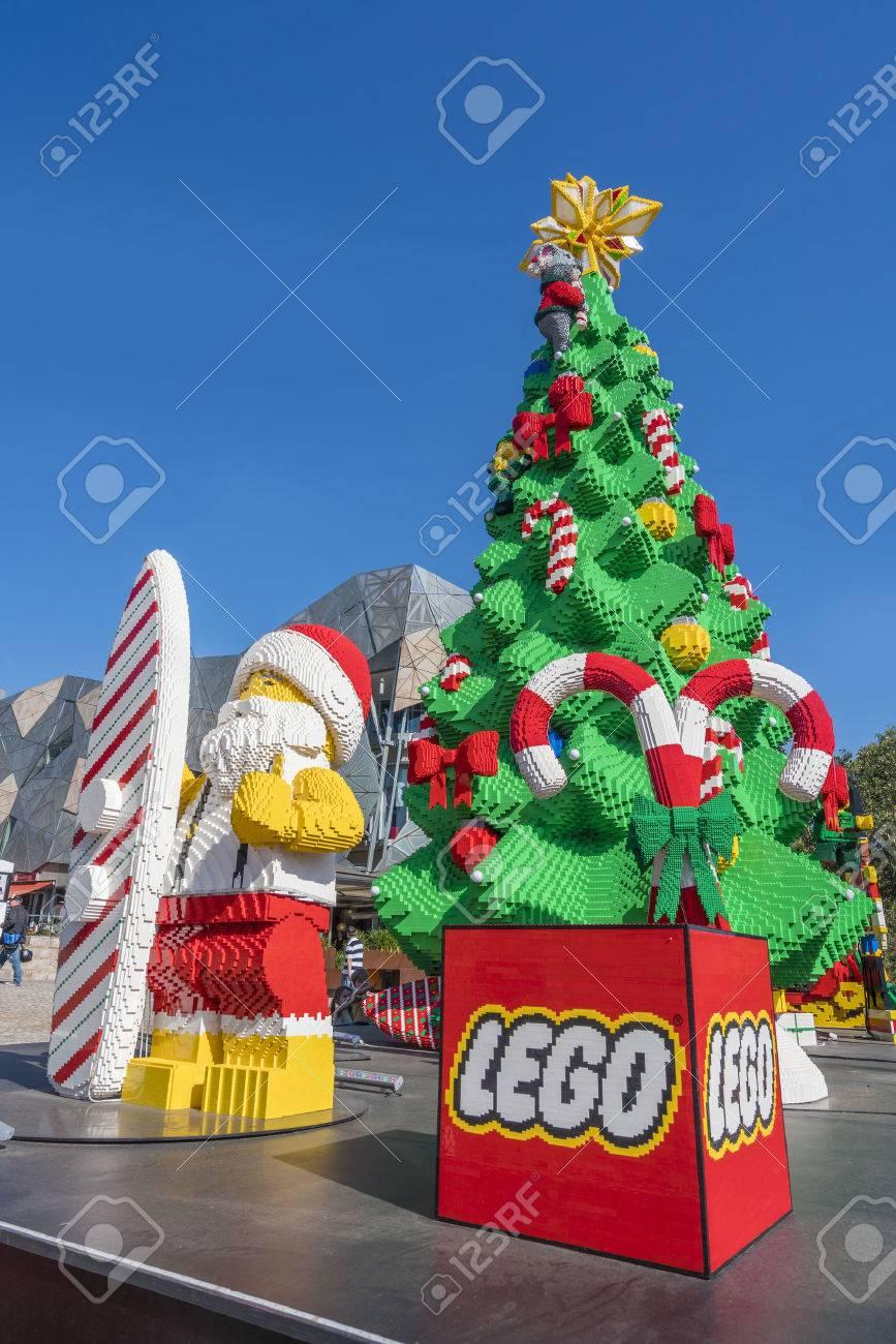 Australia Christmas.Melbourne Australia Dec 16 2015 Christmas Tree And Santa