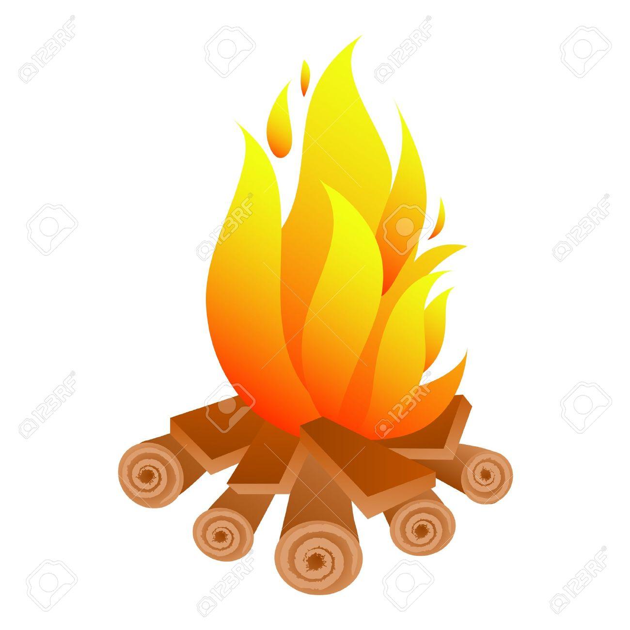Beach Bonfire Clipart