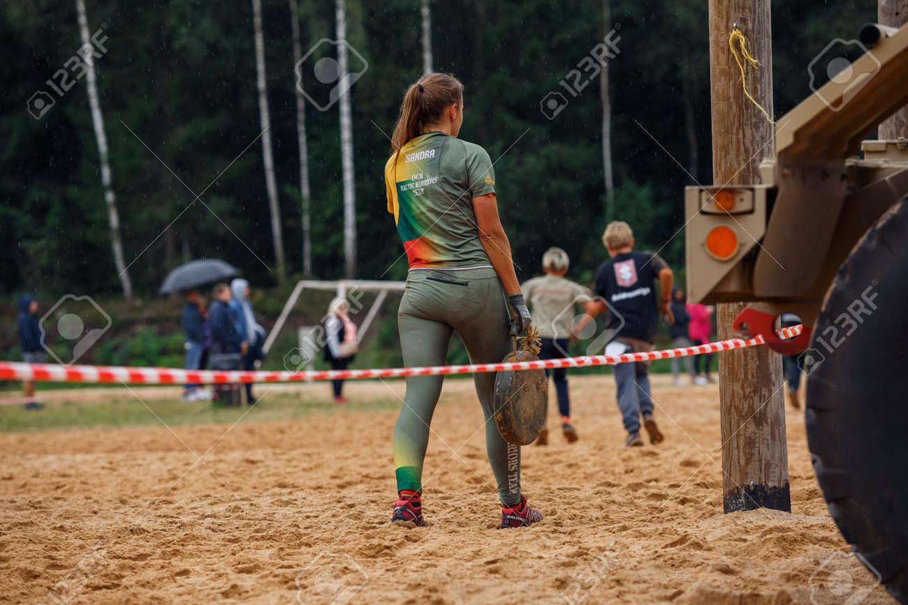 City Ikskile, Latvia. People train and exercise in nature. Travel photo.29.08.2020 - 155521290