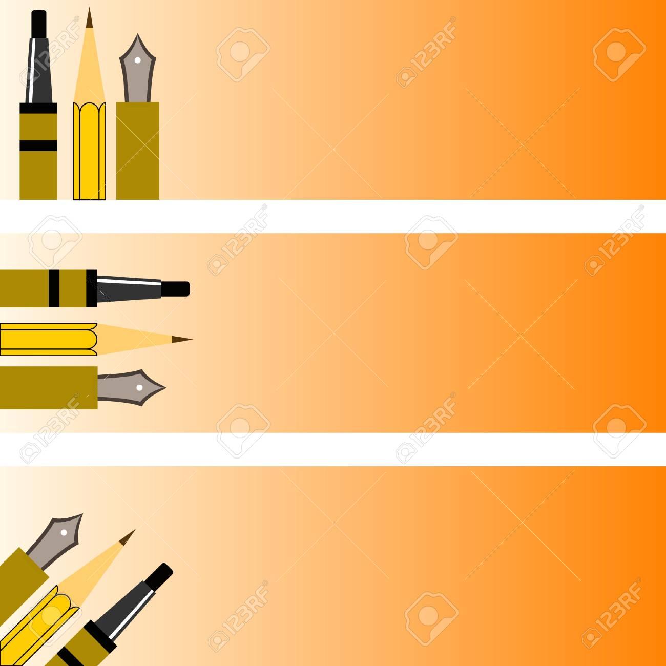 banner pens Stock Vector - 3303014