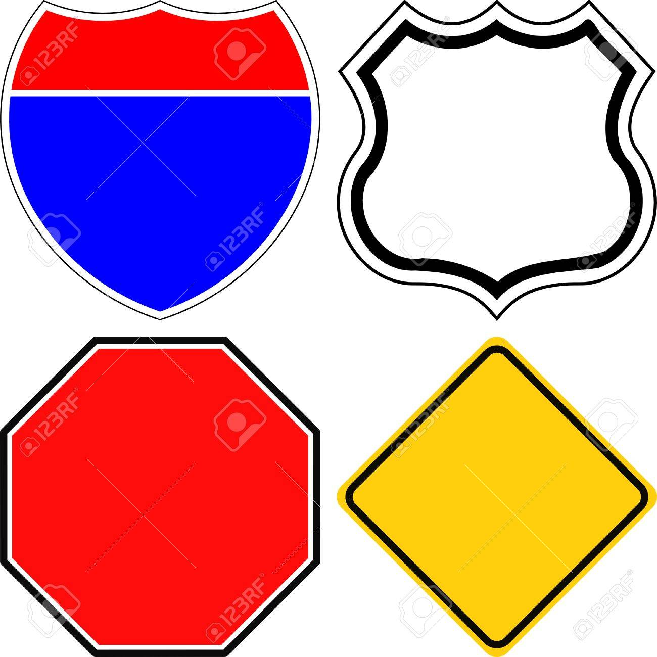 blank road signs Stock Vector - 3303015