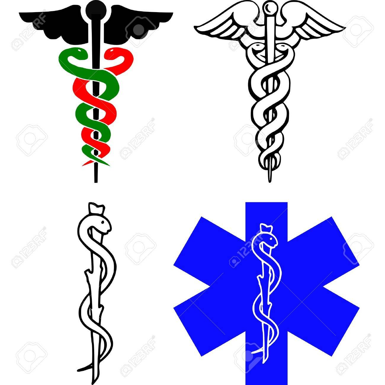 258 Caduceus Medical Logo Cliparts, Stock Vector And Royalty Free ...