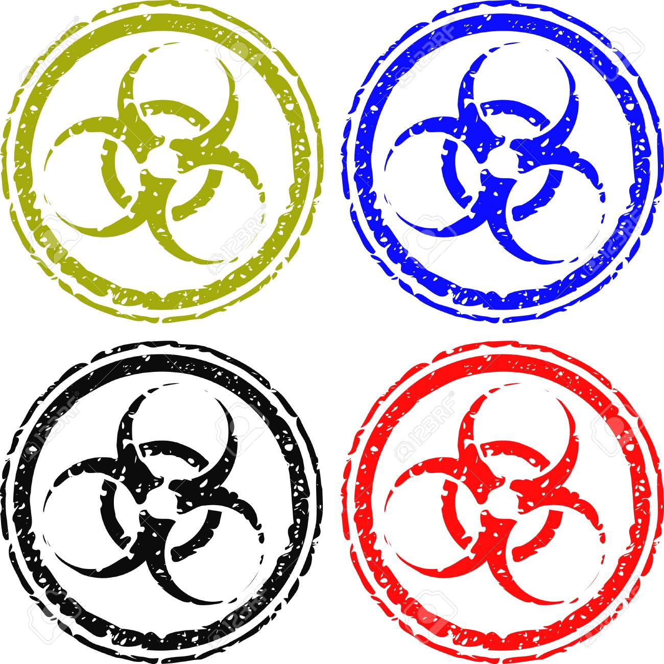 biohazard stamps isolated on white Stock Vector - 3315052