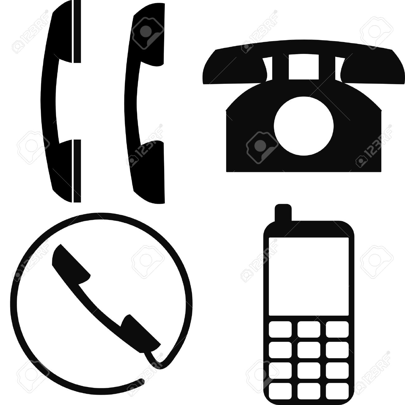 telephone/phone/mobile icons Stock Vector - 3315026