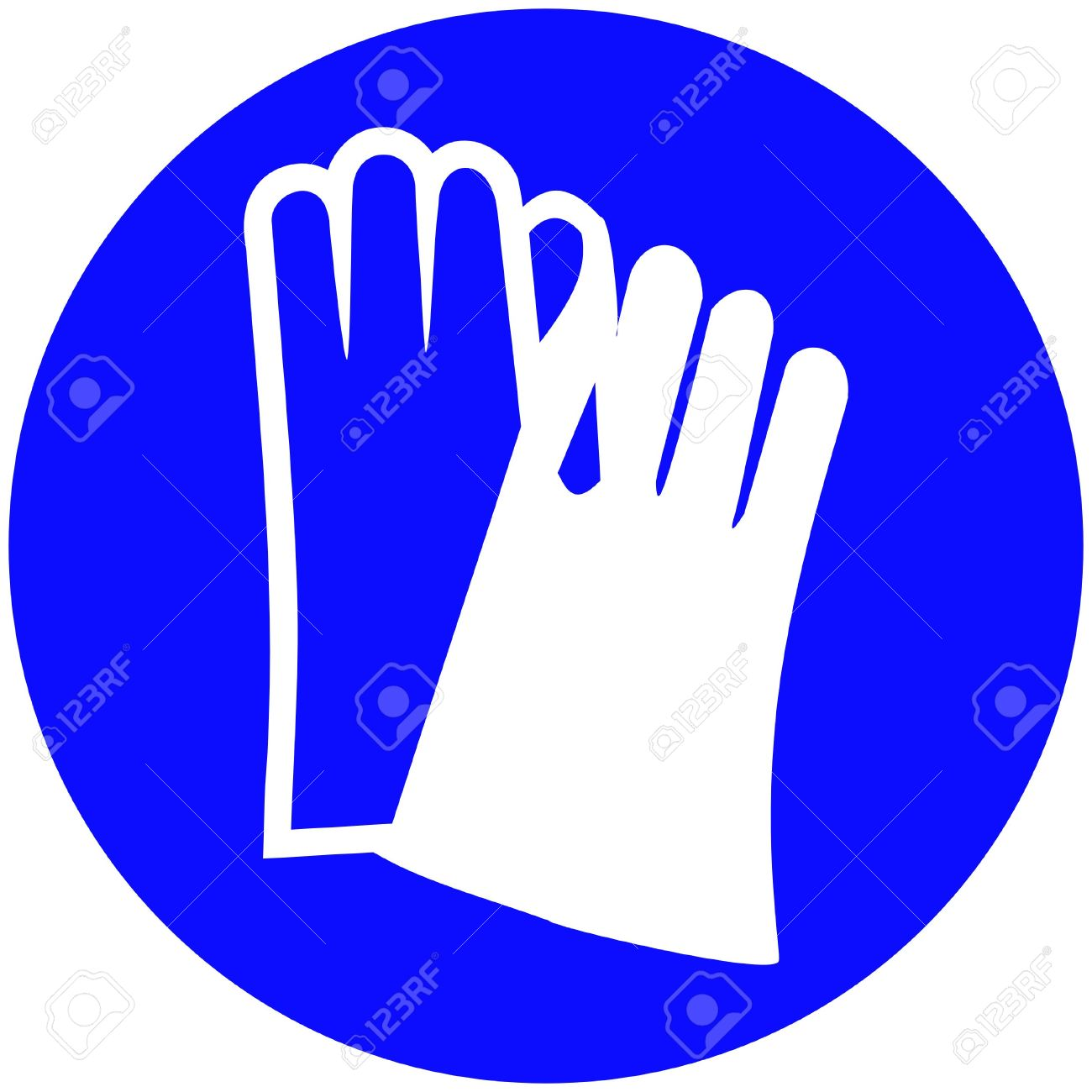 Gloves Must Be Worn Royalty Free Cliparts Vectors And Stock