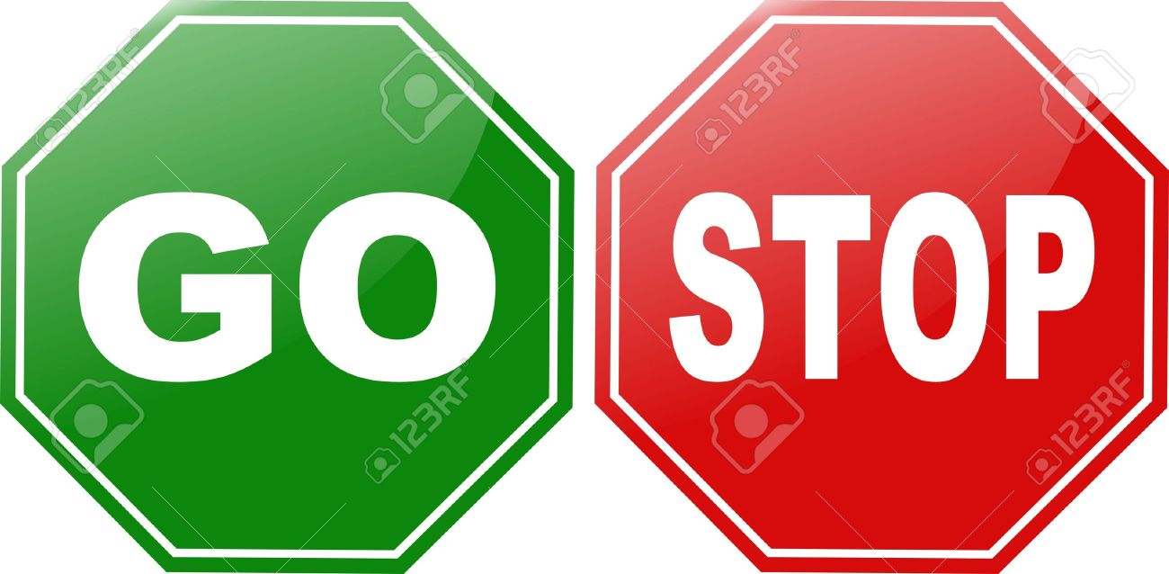 stop go sign Stock Vector - 3383919