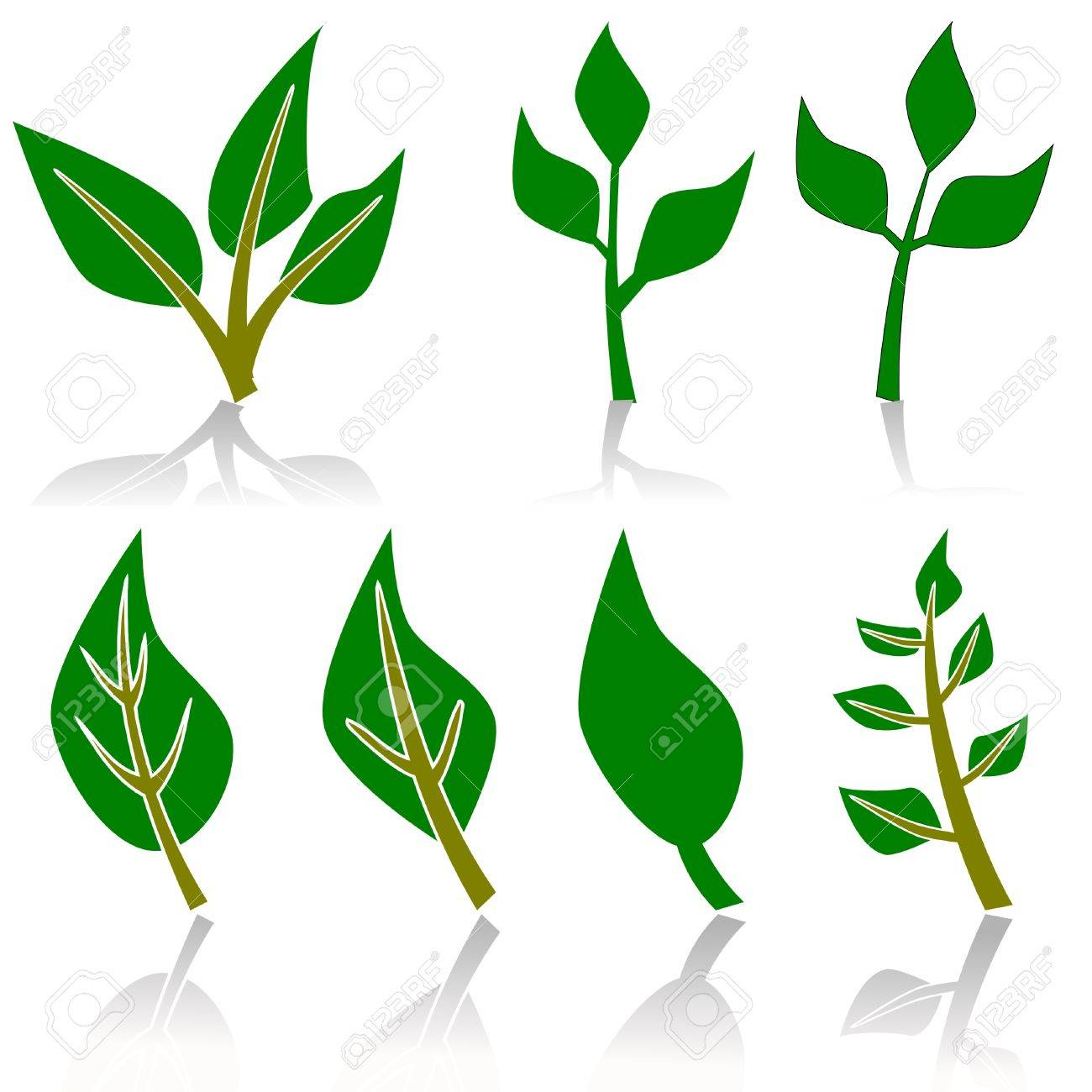 leaf or plant ecology or environment sign Stock Vector - 3483287