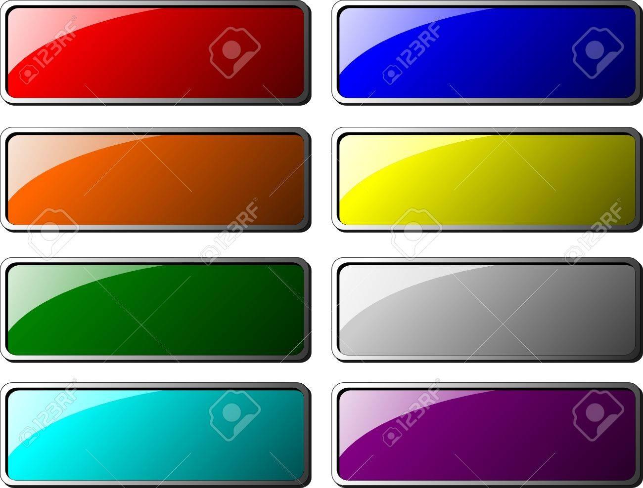 rectangle web buttons Stock Vector - 4019230