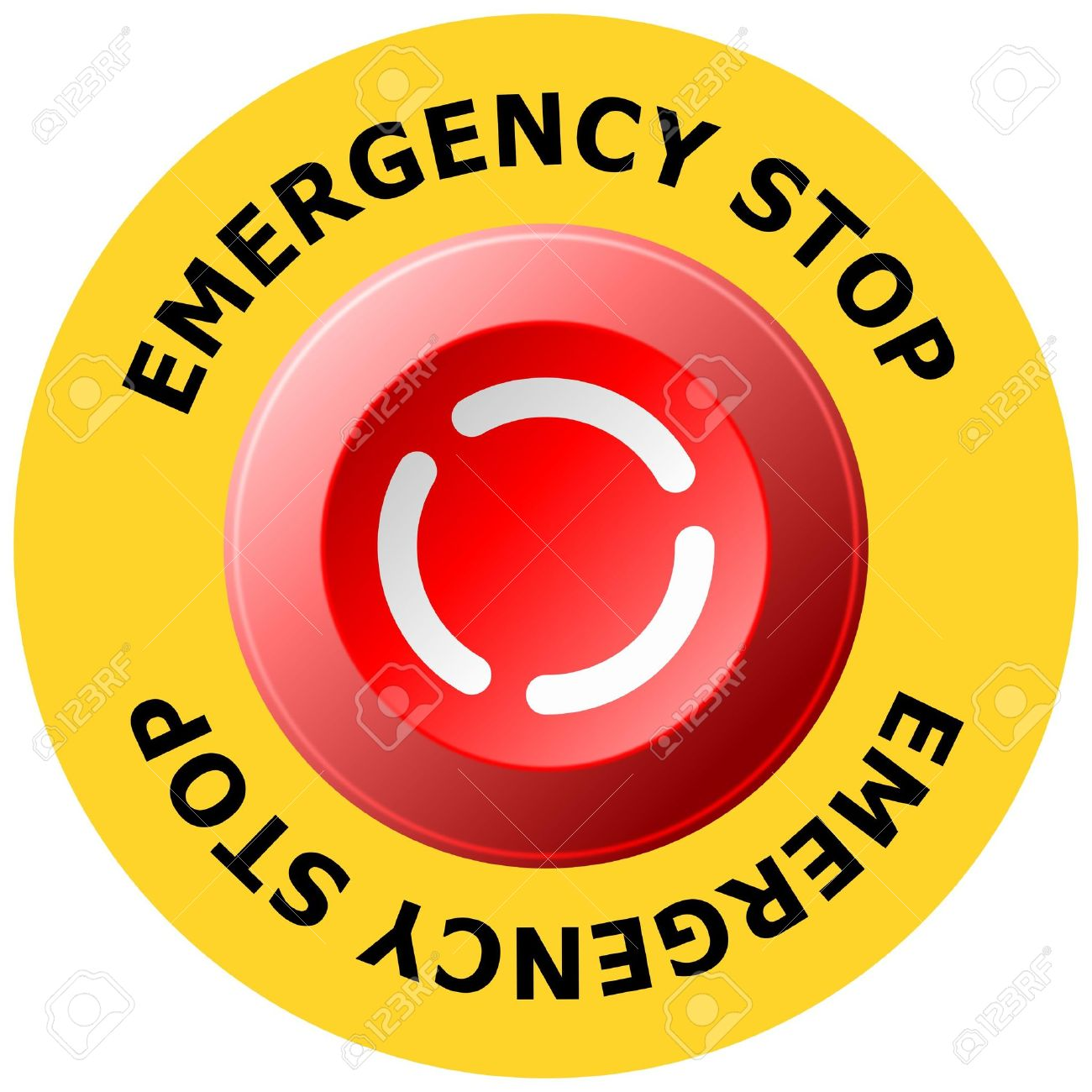Emergency stop icon clipart emergency off - Emergency Stop Button Stock Vector 4885251