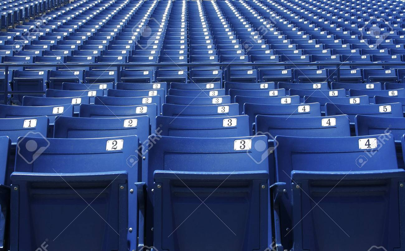 Row After Row Of Blue Stadium Seats And Bleachers Photo – Chair for Bleachers