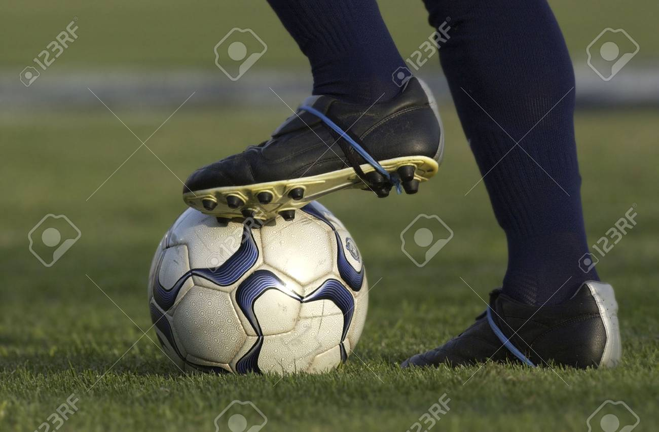 Football or Soccer Ball Kicking Stock Photo - 1944844