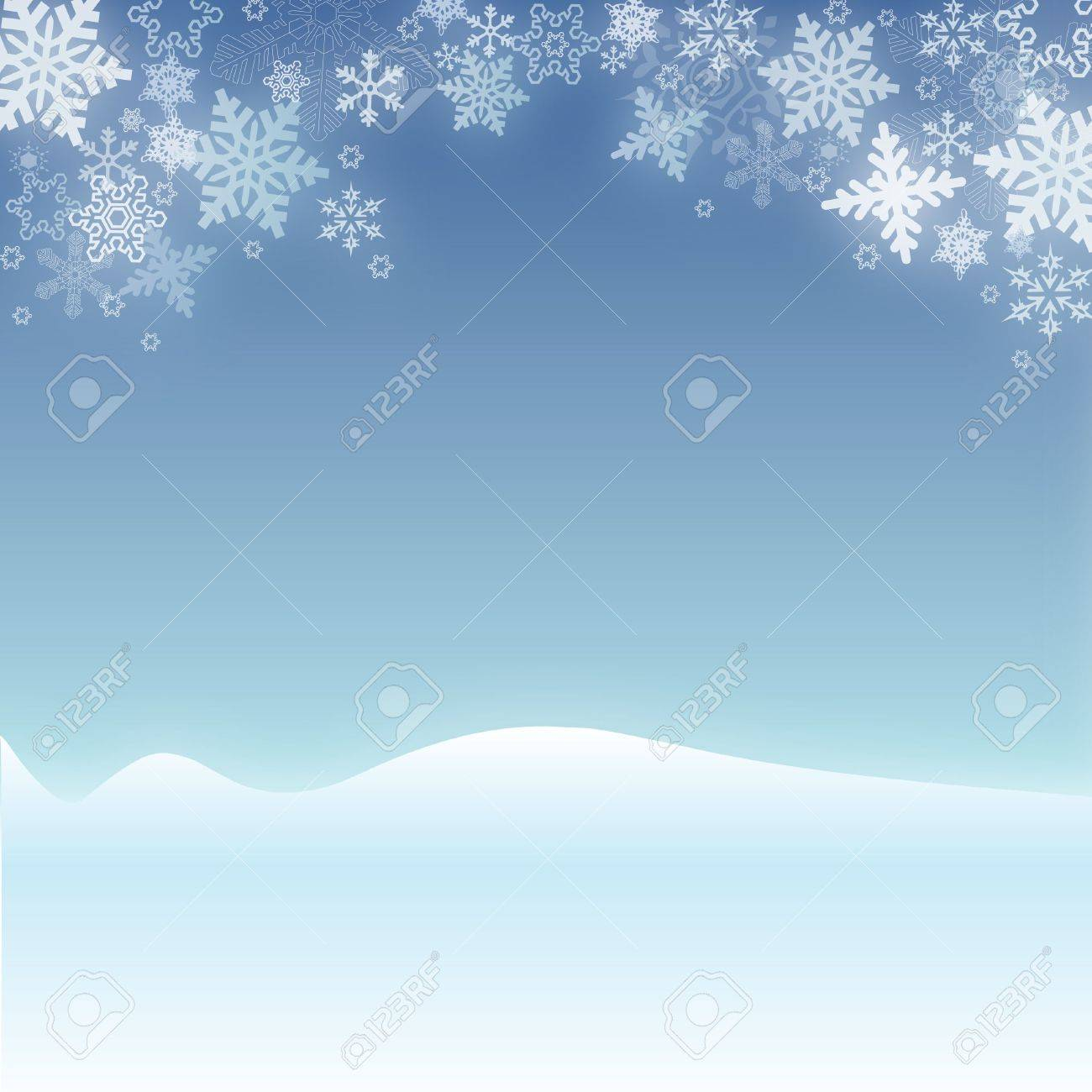 Snowy Christmas Winter Scene Stock Photo - 2068167