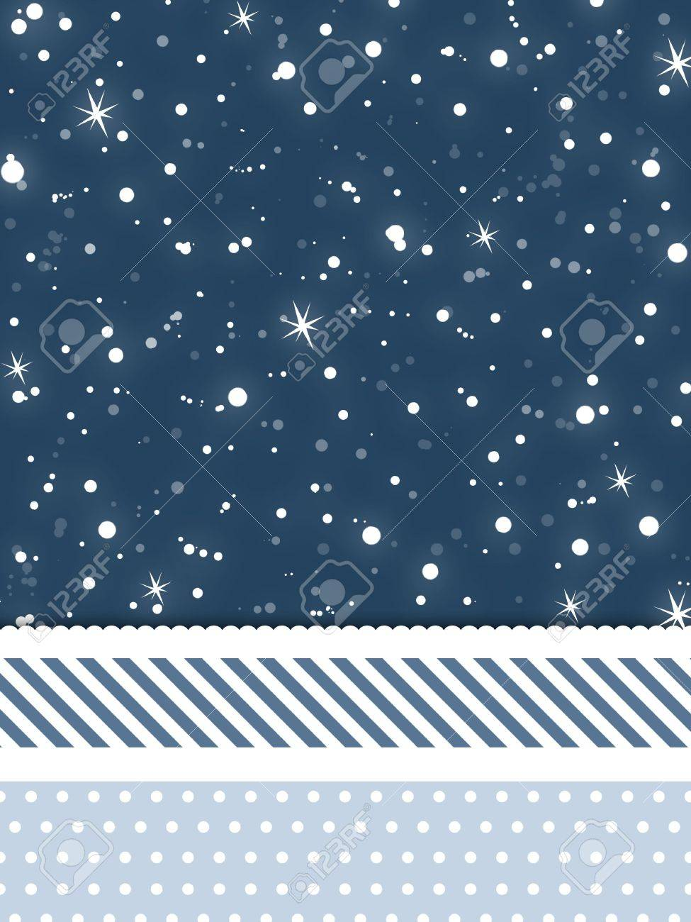 A snowflake and stars winter background for use in website wallpaper designs presentations christmas cards invitations and holiday-themed brochure backgrounds. Stock Photo - 3709921