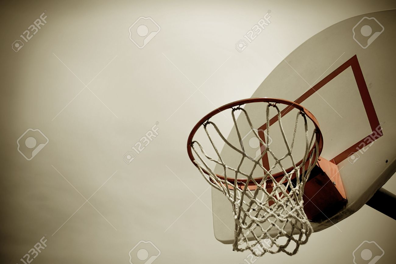 A Horizontal Cross Processed Basketball Hoop Background. Lots ...