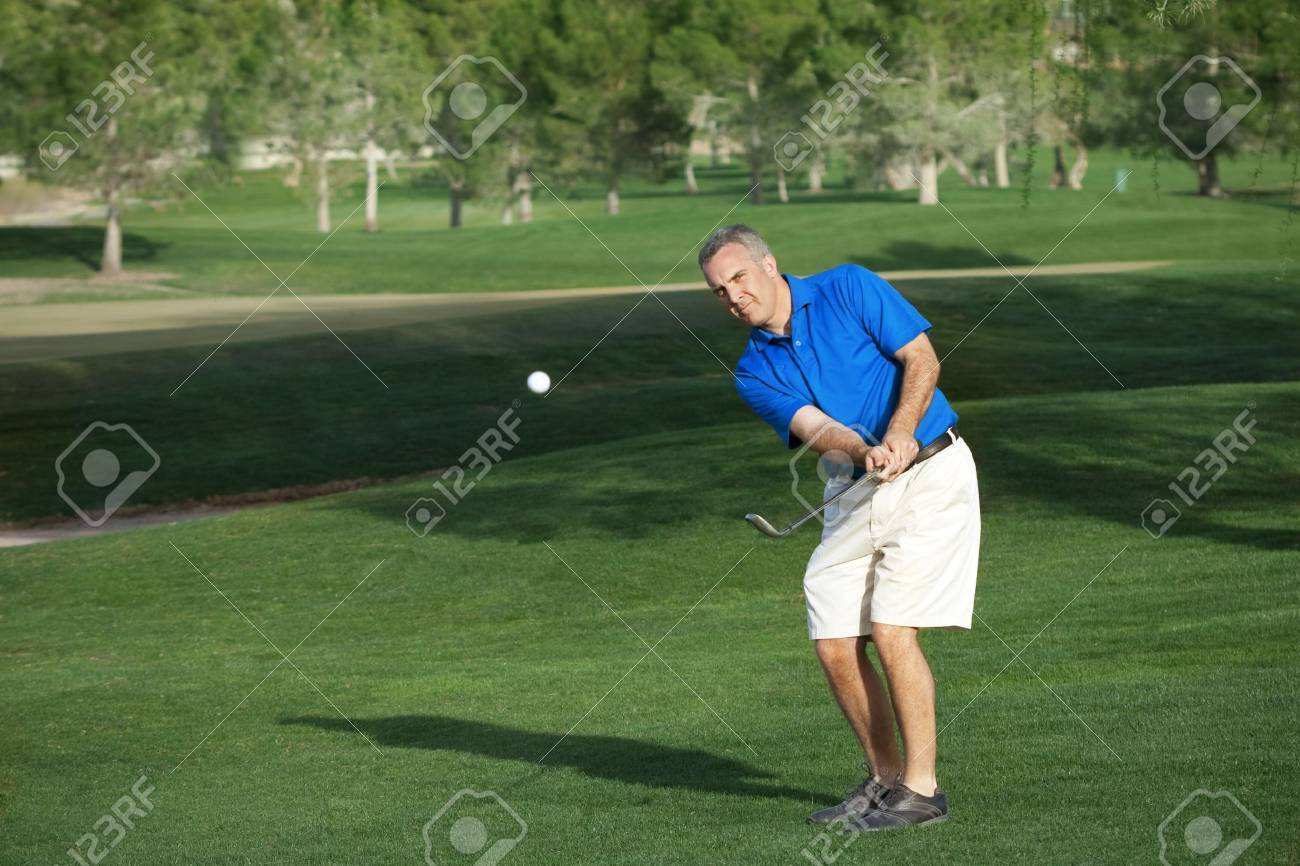 Male Golfer Playing Golf Stock Photo - 6708206