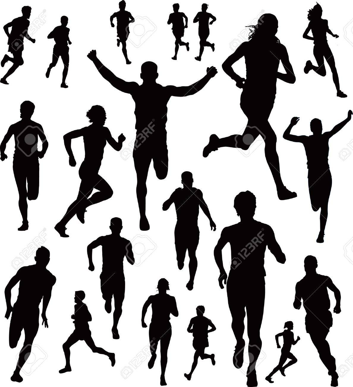 Collection of Runners Stock Vector - 6847060