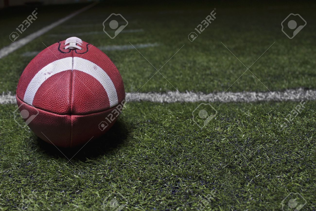 Generic Football background on a turf field Stock Photo - 10420493