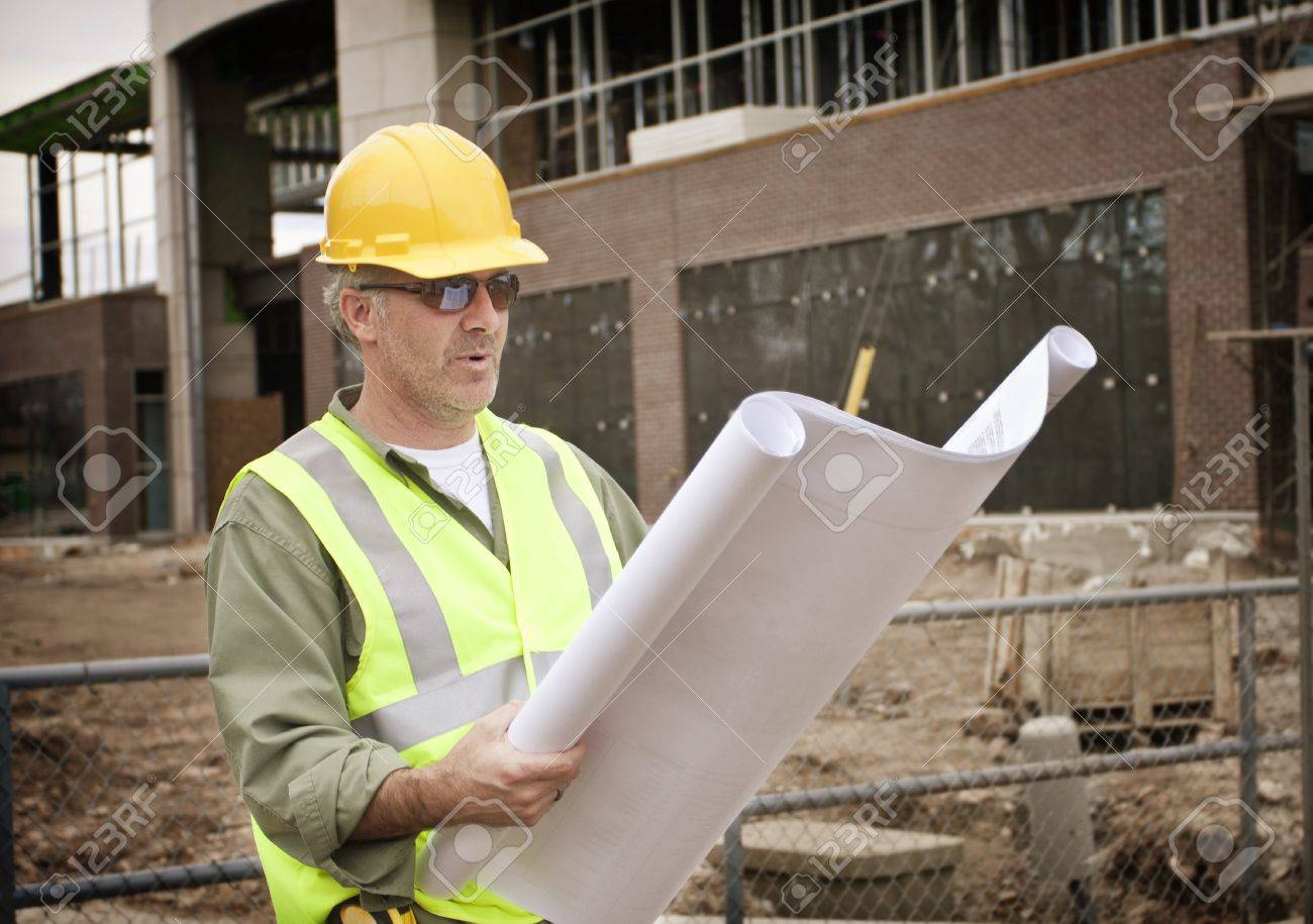 construction foreman on the job site stock photo picture and construction foreman on the job site stock photo 14264343