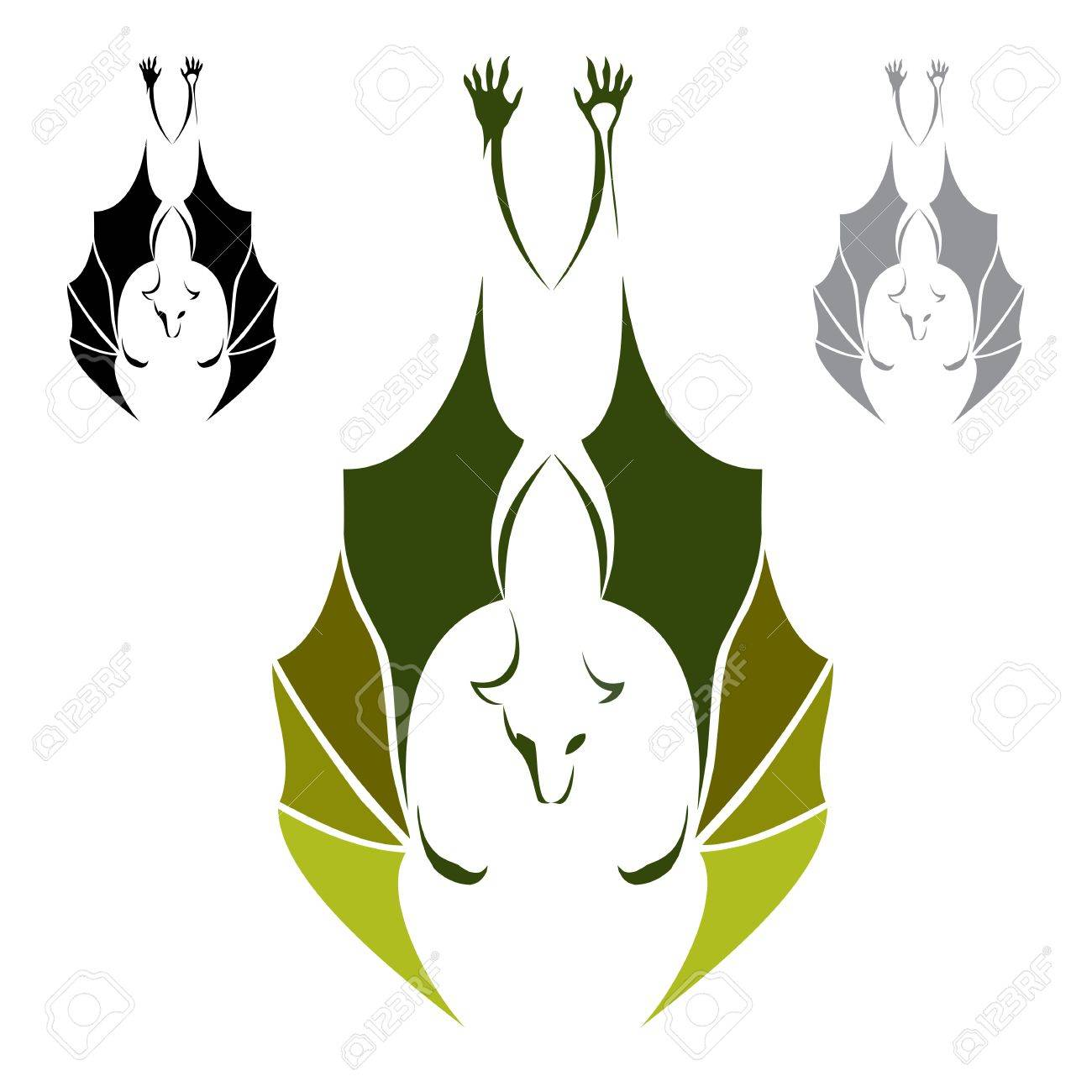 Three bats hanging upside down on a white background royalty free three bats hanging upside down on a white background stock vector 16361718 buycottarizona
