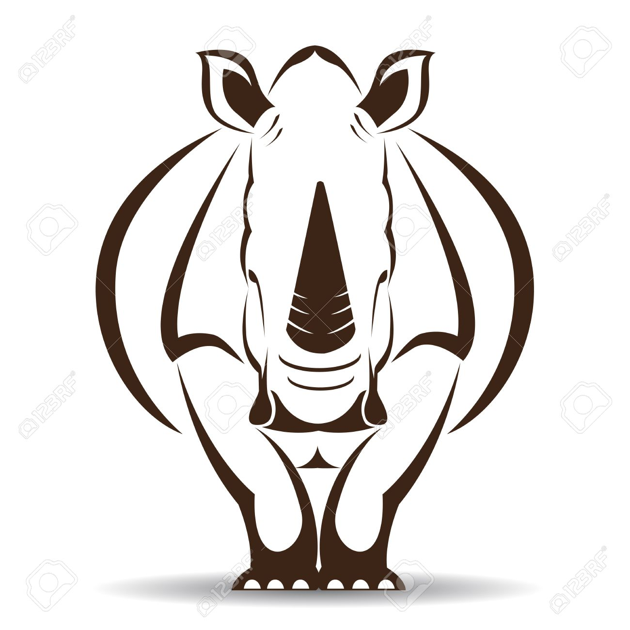 4565 rhino head stock vector illustration and royalty free rhino image of an rhino on white background ccuart Gallery