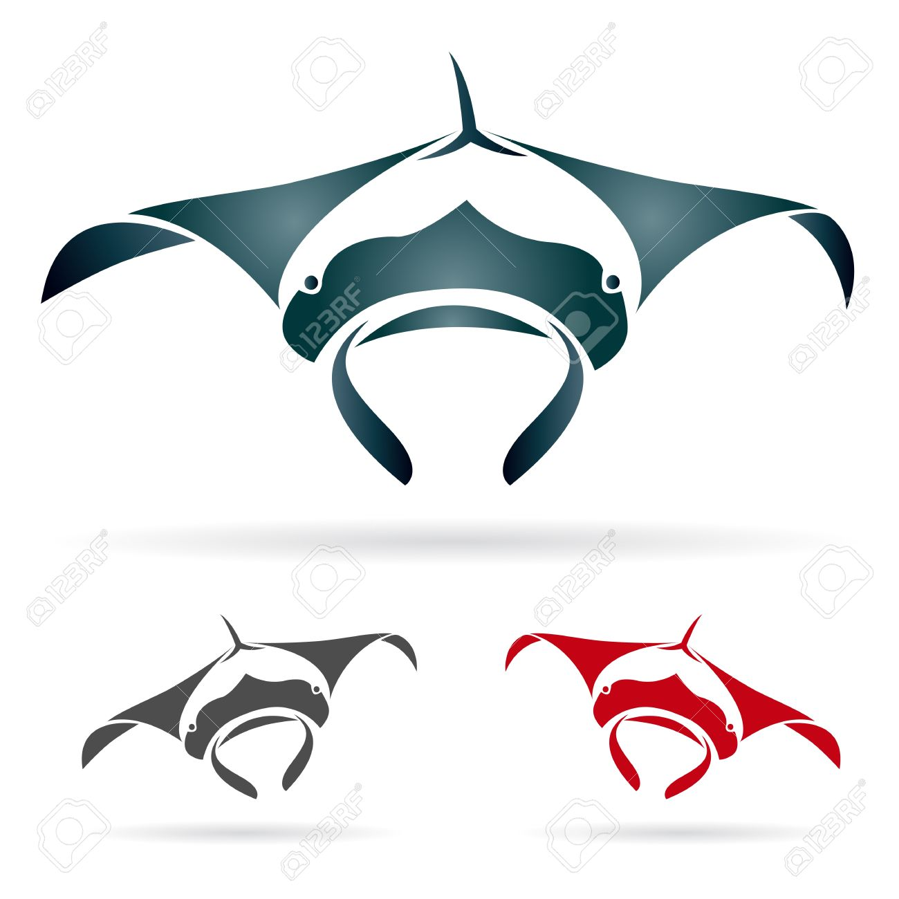 stingray vector image of an stingray on white background - Corvette Stingray Logo Vector